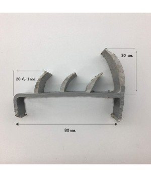 Резинопластиковый уплотнитель 80 мм. П-образные